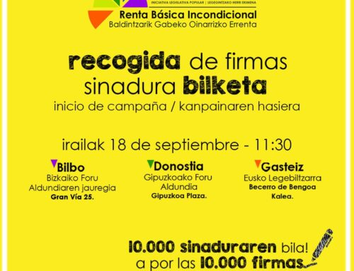 18 de septiembre, actos de presentación inicio campaña de recogida de firmas